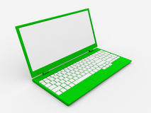 3D Laptop with space for your message Stock Photography