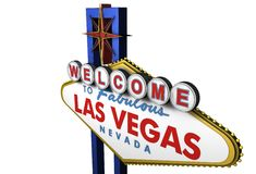 3d Las Vegas Sign, Nevada vector illustration