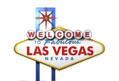 3d Las Vegas Sign, Nevada royalty free illustration