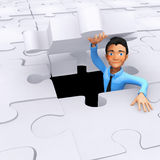 3D last piece of the puzzle Royalty Free Stock Photo