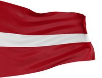 3D Latvian flag Stock Photography