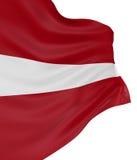 3D Latvian flag Stock Photography