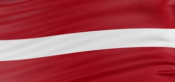 3D Latvian flag Royalty Free Stock Image