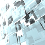 3D layered glass squares Royalty Free Stock Images