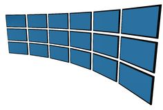 3D LCD Überwachungsgeräte Stockfoto