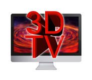 3D LCD TV Stock Photography