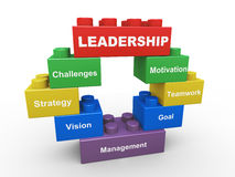 3d leadership building blocks Stock Image