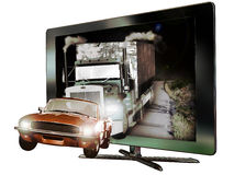 3D led  television Stock Photos