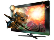 3D led television Royalty Free Stock Photography