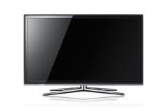 3d Led tv on white back ground Royalty Free Stock Photos