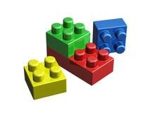 3D lego blocks. On white background Stock Photos