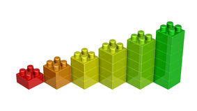 3D lego blocks Royalty Free Stock Photo