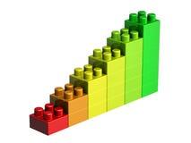 3D lego blocks. On white background Stock Photo