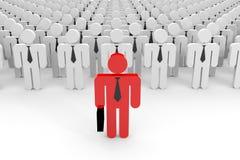 3D leider en een menigte. Stock Fotografie