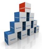 3d leidingspiramide Royalty-vrije Stock Foto's
