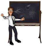 3d leraar die 3 beeldverhaal 2 onderwijst Royalty-vrije Stock Foto