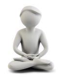 3d les gens - méditation Photos libres de droits