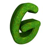 3d letter G in green grass Royalty Free Stock Photos