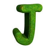 3d letter J in green grass Royalty Free Stock Images