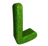 3d letter L in green grass Stock Photography