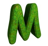 3d letter M in green grass Stock Photos