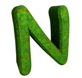 3d letter N in green grass Royalty Free Stock Photos
