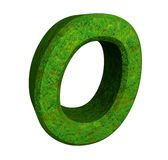 3d letter O in green grass Stock Photo