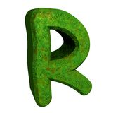 3d letter R in green grass Stock Photos