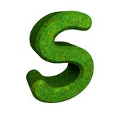 3d letter S in green grass Royalty Free Stock Image
