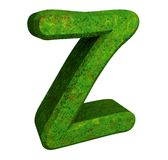 3d letter Z in green grass Stock Photography