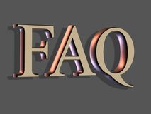 3D Lettering: FAQ Stock Photo