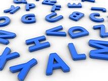 3D letters Stock Photo