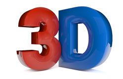 3d letters Stock Image