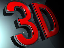 3D letters royalty free illustration