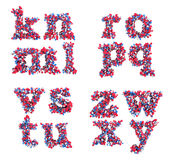 3d letters den abstrakt stilsorten K litet z Vektor Illustrationer