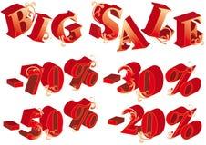 3d letters försäljningsvektorn stock illustrationer