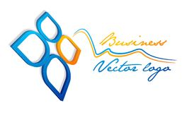3d liść błękitny logo Obraz Stock