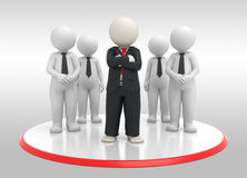 3d lider biznesu drużyna royalty ilustracja