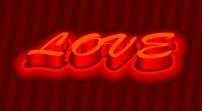 3d liefdetekst Royalty-vrije Stock Foto's
