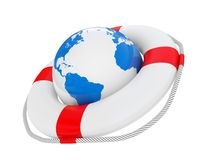 3D life buoy Royalty Free Stock Image