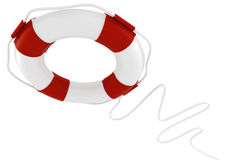 3d life buoy on white background Stock Photos