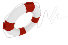 3d life buoy on white background Stock Images