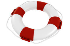 3d life buoy on white background Royalty Free Stock Image