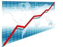 3d ligne diagramme Photo stock