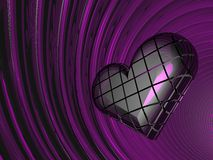 3D lilac love heart Royalty Free Stock Photo