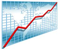 3d line chart Stock Image