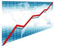 3d line chart Stock Photo