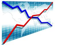 3d line charts Stock Photo