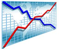 3d line charts Stock Photography