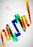 3D lines. 3D colorful lines. Vector background stock illustration